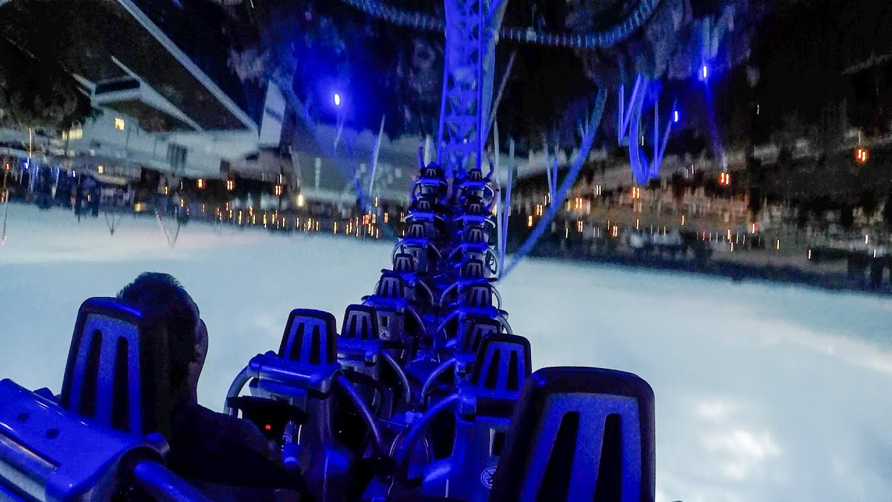 Blue Fire Roller Coater! Back Seat POV! Europa Park Germany
