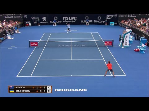 Kyrgios vs Dolgopolov Match Highlights (QF) | Brisbane International 2018