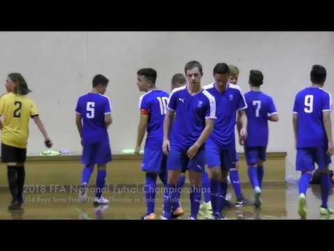 2018 FFA National Futsal Championships U14 Boys Semi Final FNSW Thunder vs Solomon Islands