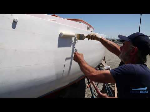 How to Roll and Tip Topside Paint