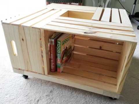 Diy Crate Coffee Table | Pictures Of Pallet Furniture Diy Collection