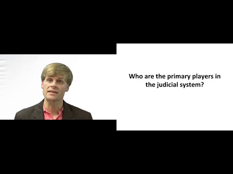 Primary players in the Judicial System