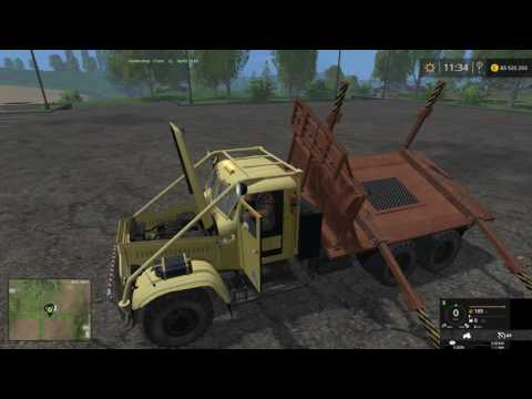Farming Simulator 2015 мод лесовоза КрАЗ 214