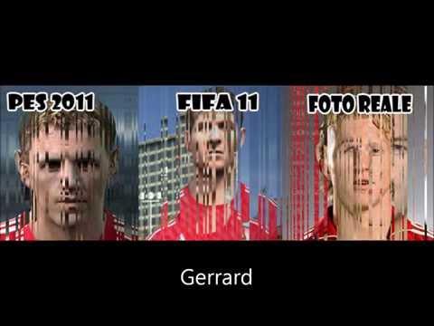 PES 2011 Vs FIFA 11 [FACES ENGLISH PREMIER LEAGUE]