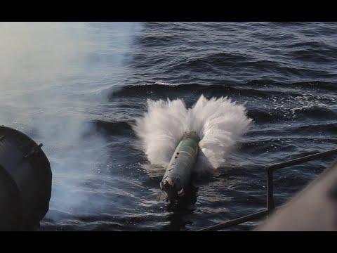Боевые стрельбы фрегата «Маршал Шапошников» в акватории Японского моря