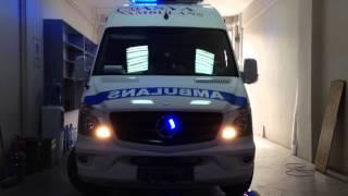 ambulans siren anons mavi panjur ici led uygulması sıren cakar