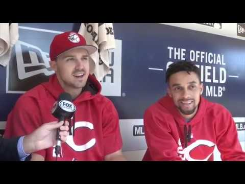 Reds' Billy Hamilton and Adam Duvall joke about their 'unfriendly' rivalry