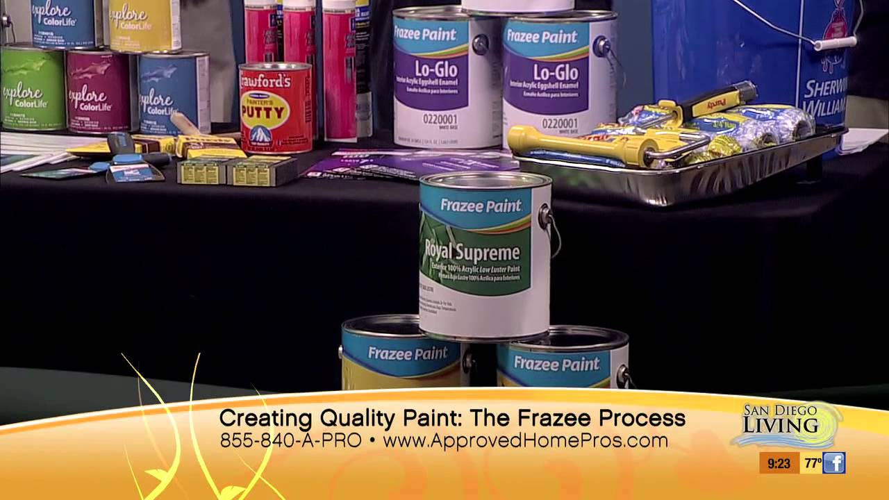 Quality Paint With Frazee Paint On The Home Pro Show Youtube