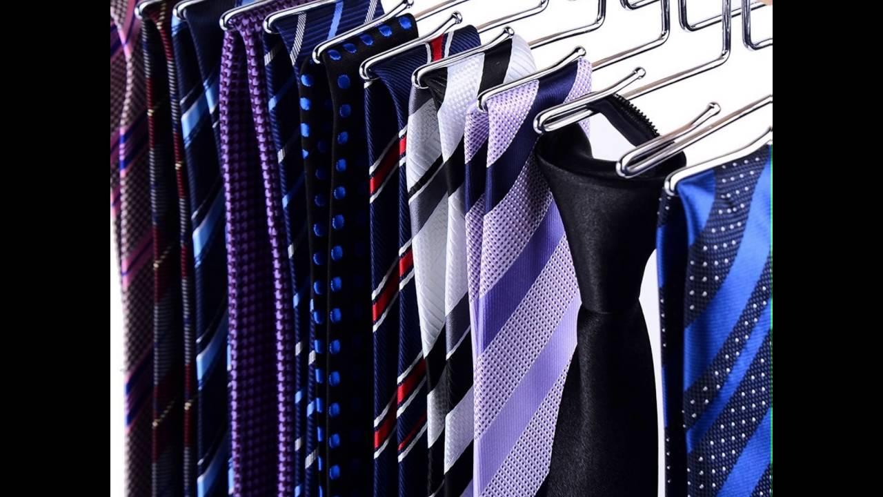 Ohuhu Wooden Tie Hanger Rotating Twirl 24 Ties Organizer