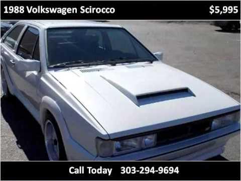 1988 Volkswagen Scirocco Used Cars Denver CO