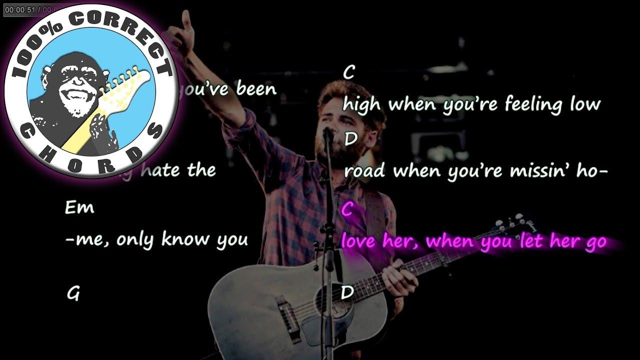 Passenger Let Her Go Chords Lyrics Youtube