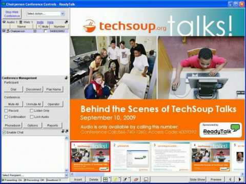 Webinar - Behind the Scenes of TechSoup Talks - 2009-09-10
