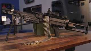 fn saw m249 belt fed machine gun available to shoot at lock load miami