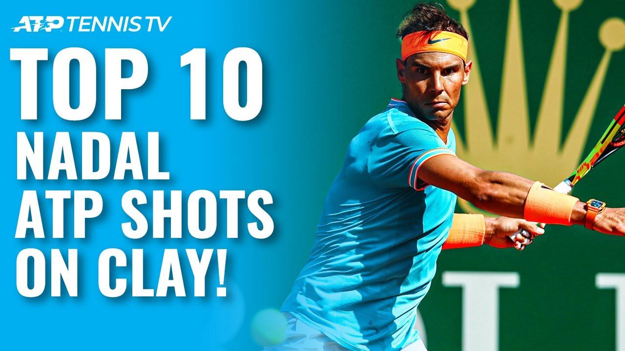 Top 10 Rafa Nadal Atp Shots On Clay Youtube