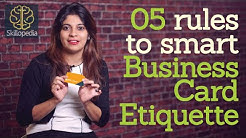 5 rules to smart business card etiquette - Personality Development Video