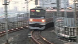 武蔵野線205系 M2編成 快速・府中本町行 新木場駅到着