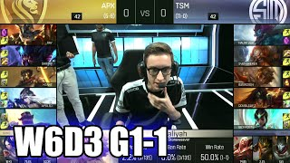 apex gaming vs tsm   game 1 s6 na lcs summer 2016 week 6 day 3   apx vs tsm g1 w6d3 1080p