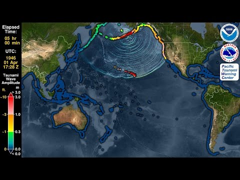 Tsunami Forecast Model Animation: Aleutian Islands 1946