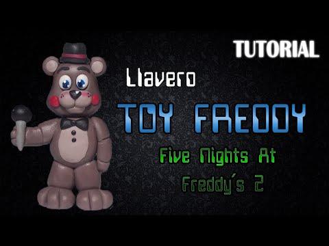 Tutorial Llavero Toy Freddy en Porcelana Fria | FNaF 2 | Toy Freddy Charm Polymer Clay Tutorial