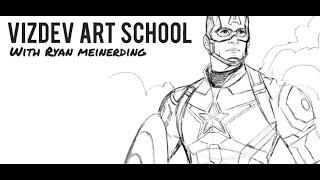 Ryan Meinerding과 함께 Marvel Studios의 캡틴 아메리카를 그리는 방법