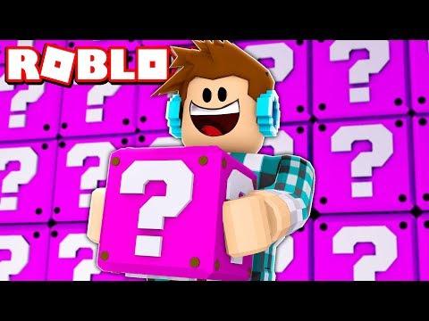 ABRINDO LUCKY BLOCK ROSA NO ROBLOX !!
