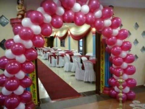 Como hacer arcos de globos para 15 a os youtube for Como hacer decoracion con globos