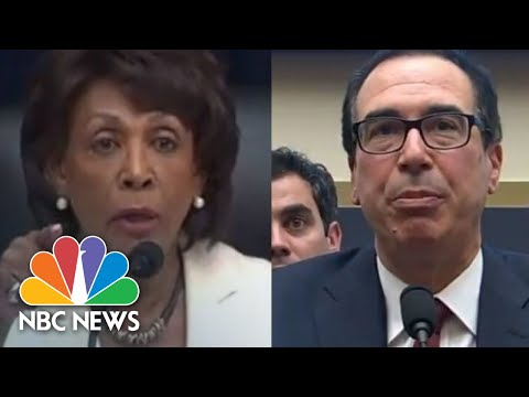 Rep. Maxine Waters, Steven Mnuchin Have Heated Exchange During Hearing | NBC News