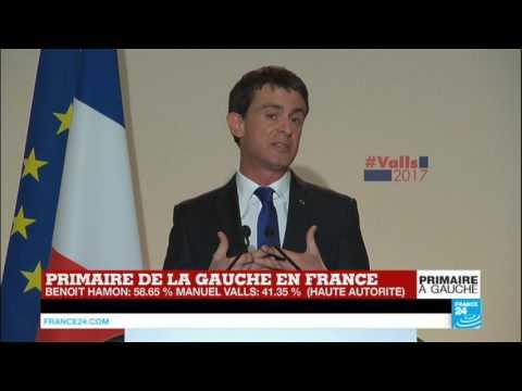 REPLAY - Discours de Manuel Valls, battu au 2e tour de la Primaire de la gauche