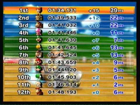 Mario Kart Wii - 150cc Mushroom Cup Grand Prix [3 star rank]