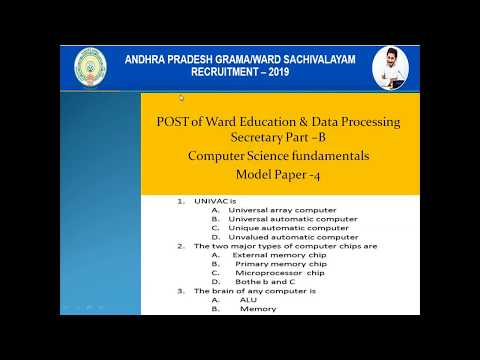 Repeat AP Grama Volunteer Interview Model Questions 2019, AP