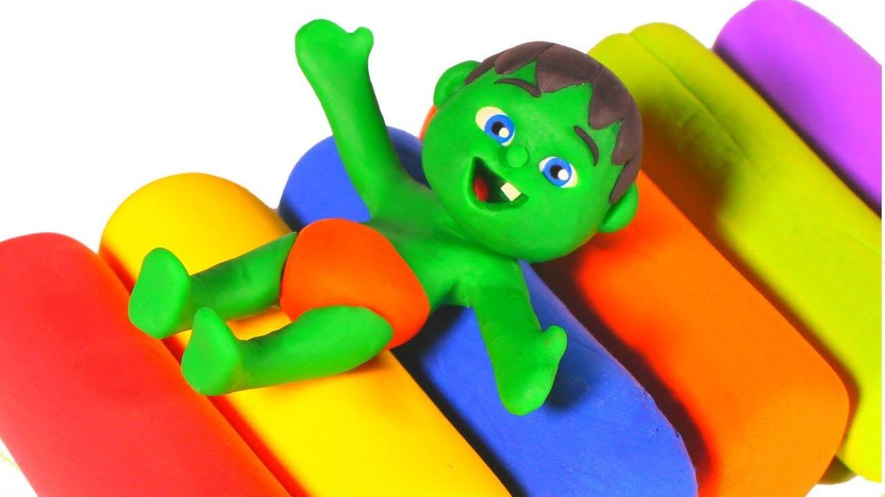SUPERHERO BABIES PLAYING WITH PLAY DOH ❤ SUPERHERO PLAY DOH CARTOONS FOR KIDS