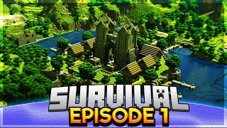 IM LUCKY! - Survival Let's Play EP.1 - Minecraft PE (Pocket Edition)