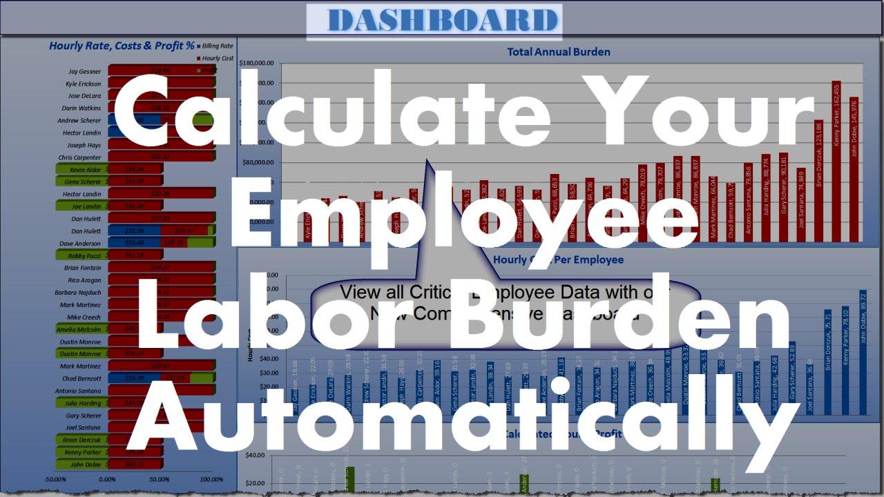 employee cost calculator excel