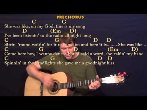 Play It Again (Luke Bryan) Strum Guitar Cover Lesson in G with Chords / Lyrics