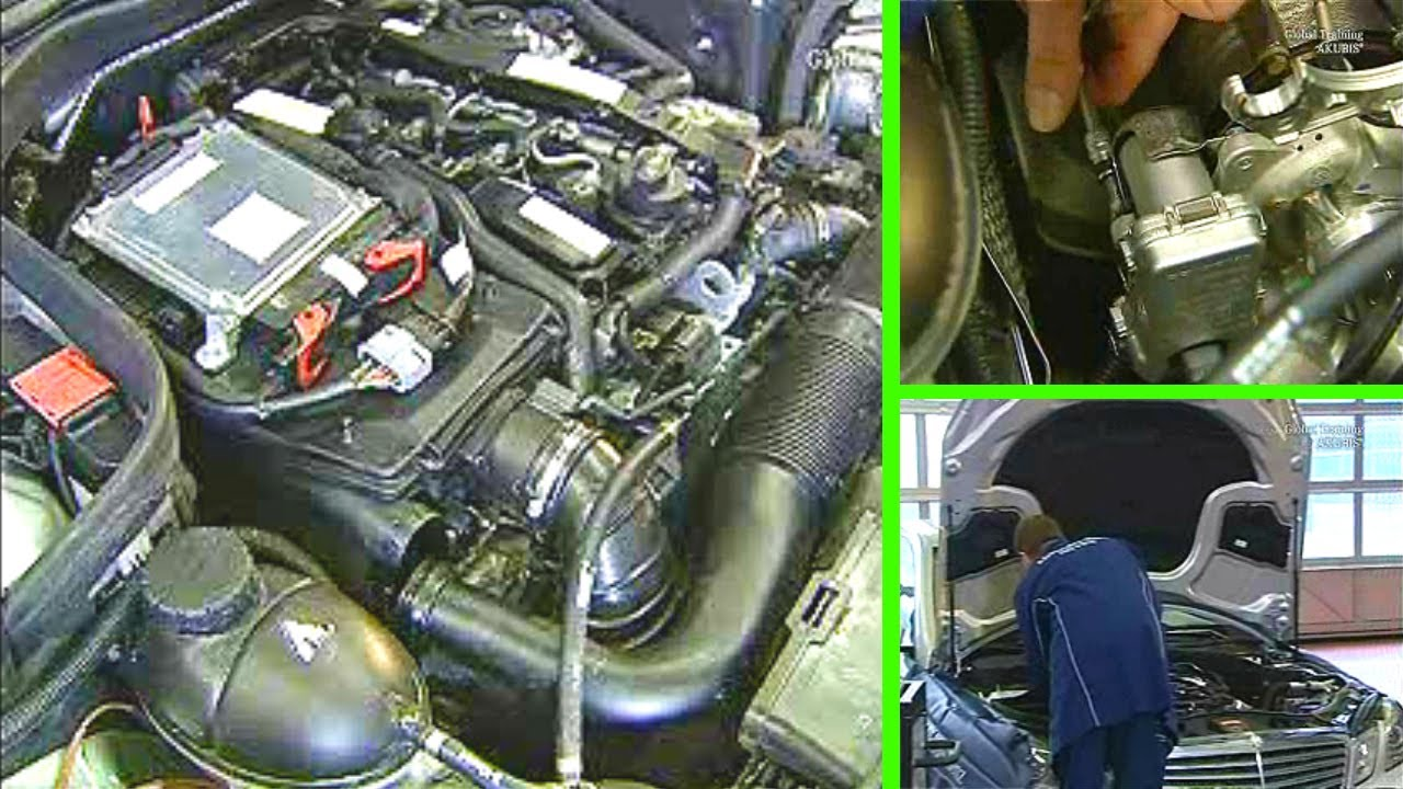 Mercedes Benz | Replace actuator motor on turbocharger OM 651 red