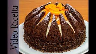 Torta Kilimanjaro - Spettacolare torta al cioccolato e mousse di pesche sciroppate - VideoRicetta