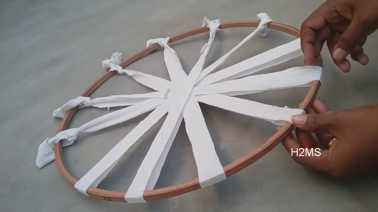 How to make simple Hula Hoop rug
