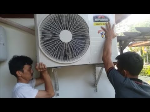 Cara pasang AC splite R410a