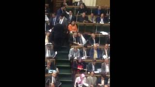 بالفيديو..نقاش جانبى بين أسامة وهيكل ومصطفى بكرى خلال الجلسة العامة للبرلمان
