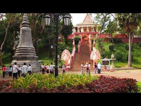 Visit attractive place at Wat Phnom, History of Phnom Penh in Cambodia - Tourist destination 2017