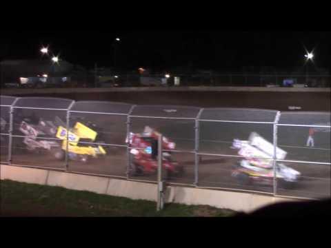 Plymouth Dirt Track 8/13/16 Sprint Car Heat Race and A Main