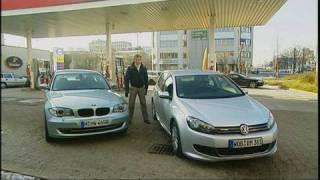 VW Golf Bluemotion vs. BMW 116d Wolfgang Rother mit dem Duel