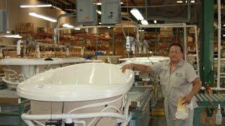Производство акриловых ванн и технология изготовления, видео