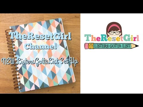 The Reset Girl's # ListersGottaList NEW List Setup