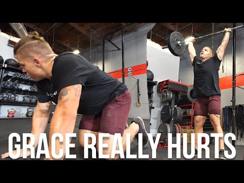 Doing CrossFit Workout GRACE (This Hurt) ��