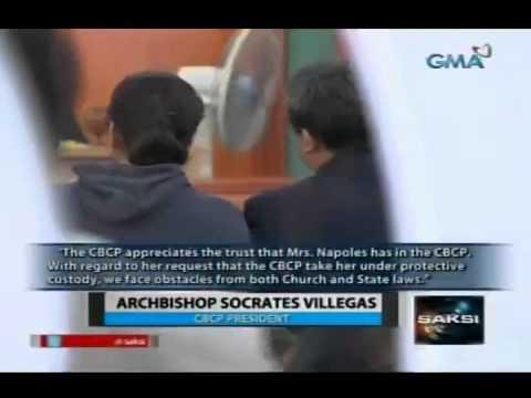 Saksi: CBCP, hindi pinagbigyan ang hiling ni Napoles na maisailalim sa kanilang custody