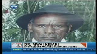 Kibaki awarded a doctorate of Humane Letters degree - now an alumnus of DeKUT