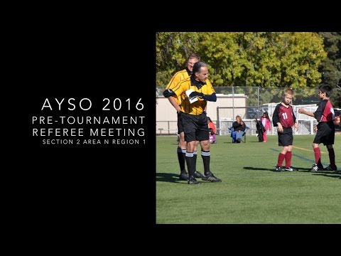 Redwood City AYSO Fall Pre-Tournament Meeting