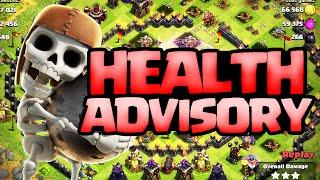 Clash of Clans ♦ Health Advisory! ♦ CoC ♦