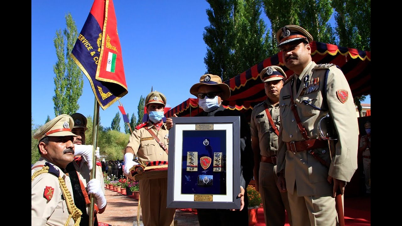 Ladakh LG unveils Ladakh Police's Flag, Formation Sign and Epaulettes